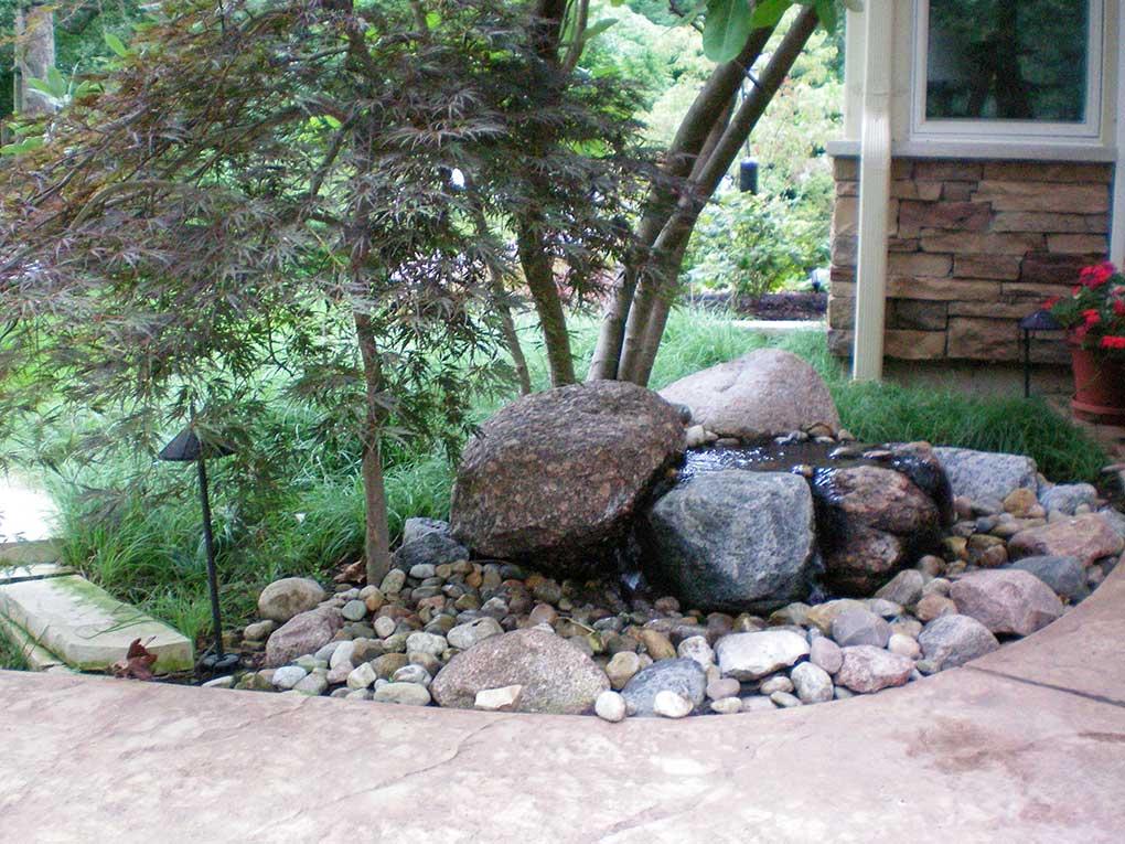 Webster Groves Backyard Water Feature