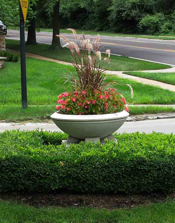 Chesterfield Subdivision Entrance Planter