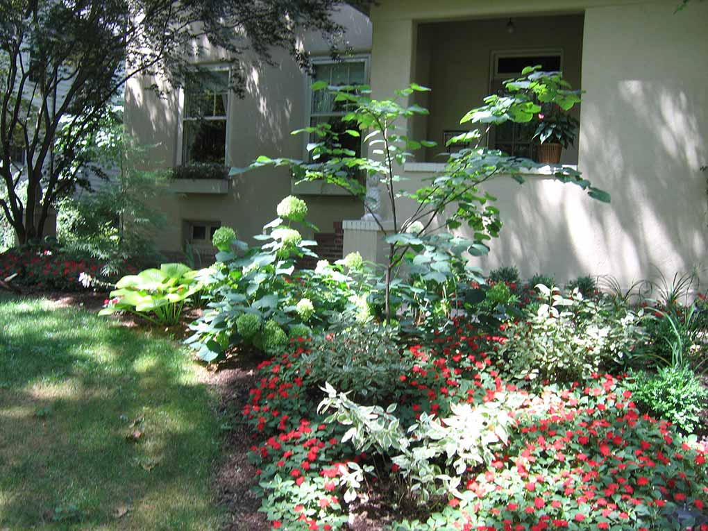 Facade Plantings and Entrance Walk Annuals