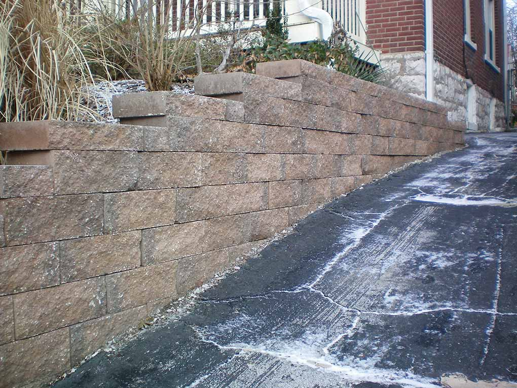 South City Tan Versalok Retaining Wall
