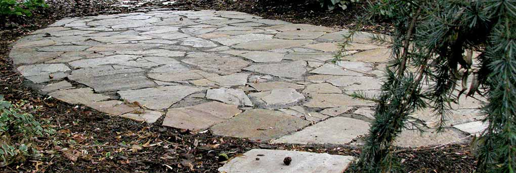 North County Patio of Silver and Gold Stone